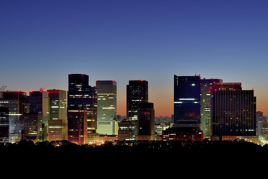 Tokyo, Skyscrapers Of Marunouchi Photograph by Vladimir Zakharov