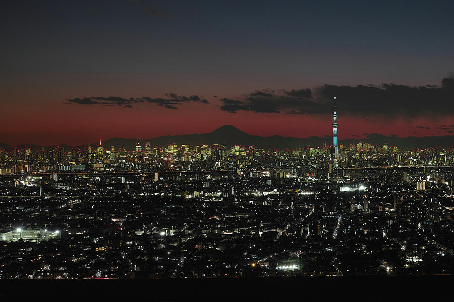 Tokyo Skytree, Fuji, And Tokyo Tower Photograph by I Love Photo And Apple.