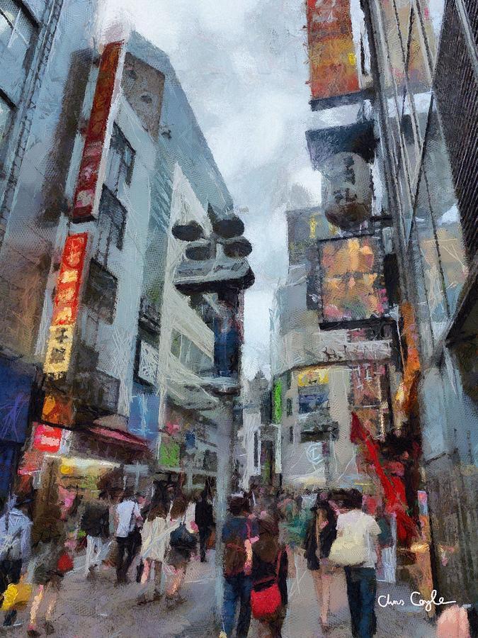 Tokyo Digital Art - Tokyo Street by Chris Coyle