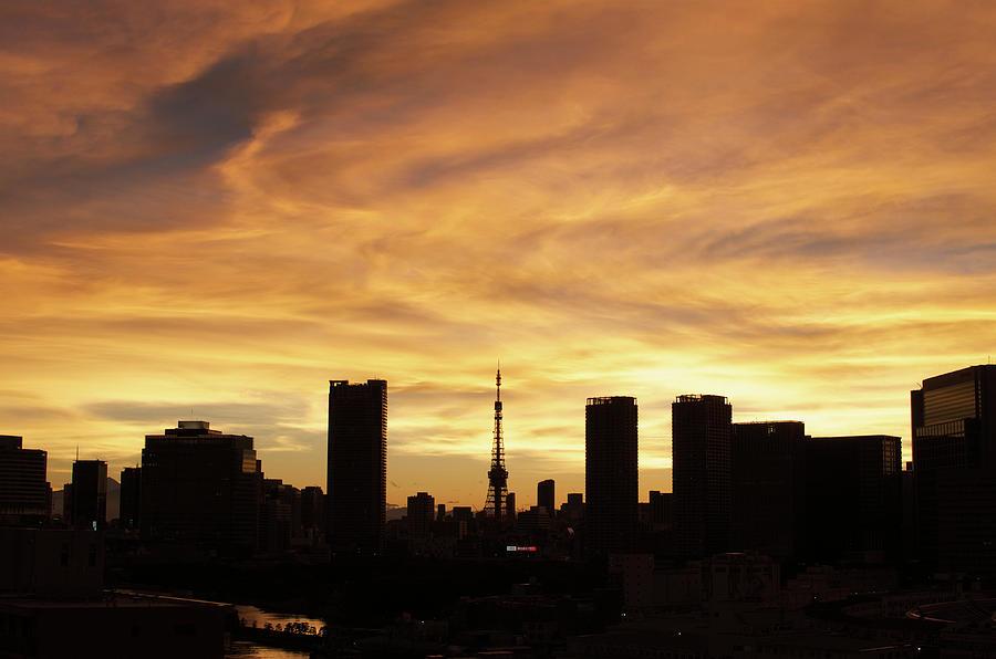 Tokyo Tower At Sunset Photograph by Keiko Iwabuchi