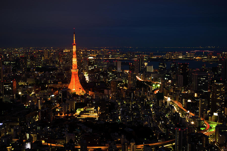 Tokyo Tower By Night Photograph by Aaron Tang