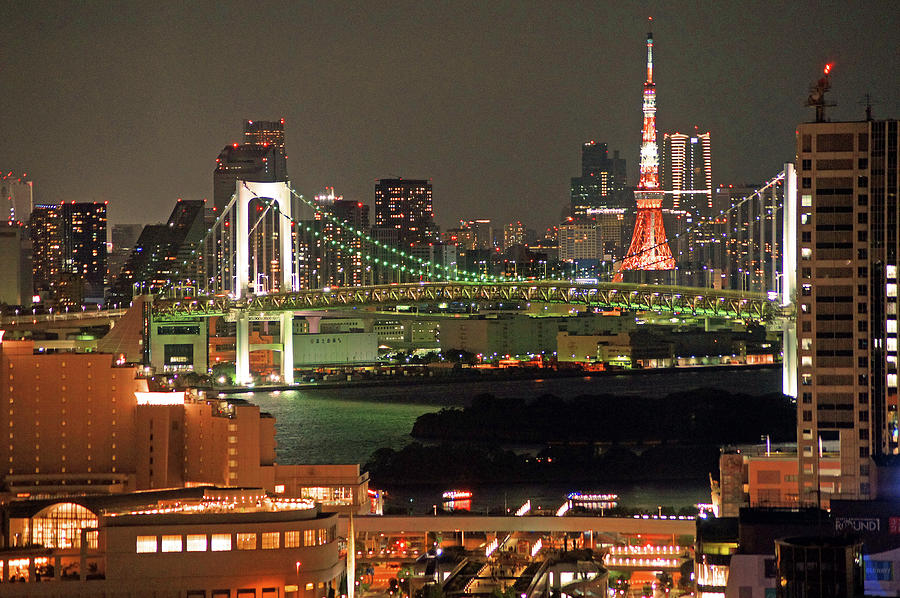 Tokyo Tower Photograph by The Landscape Of Regional Cities In Japan.
