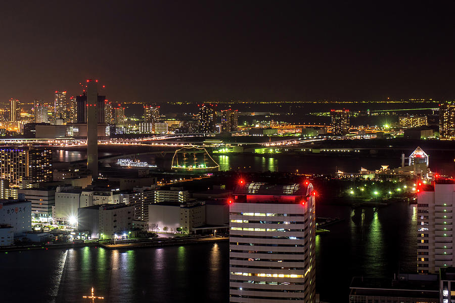 Tokyo Water Front Night View Photograph by I Love Photo And Apple.