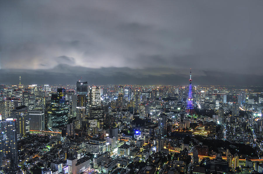 Tokyos Twin Towers Photograph by Image Courtesy Trevor Dobson