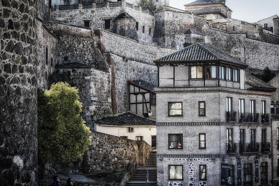 Ancient Photograph - Toledo Hillside by Joan Carroll