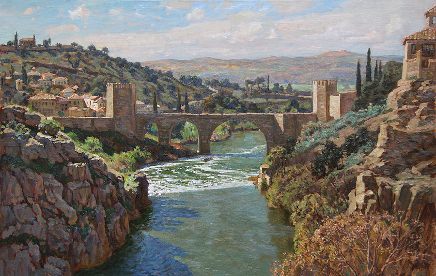 Landscape Painting - Toledo. San-martin Bridge by Korobkin Anatoly