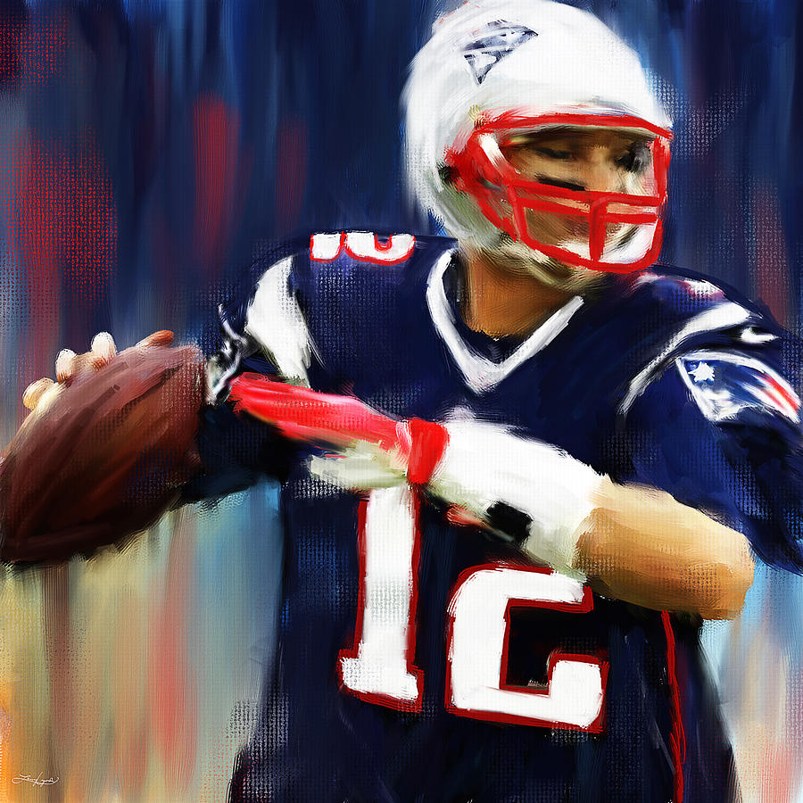 Tom Brady Painting - Tom Brady by Lourry Legarde