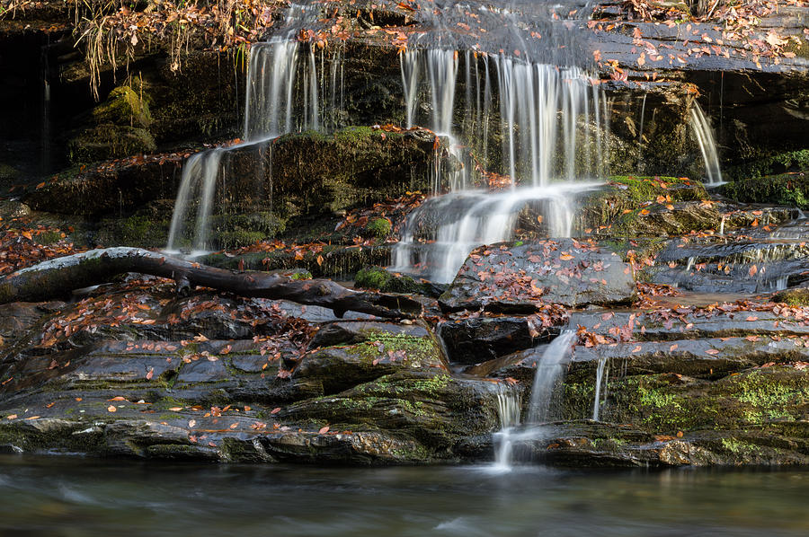 Waterfall Photograph - Tom Branch Falls Detail by William Shackelford