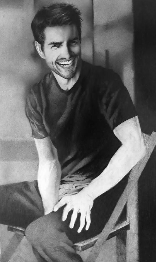 Drawing Of Celebrities Drawing - Tom Cruise by Carl Baker