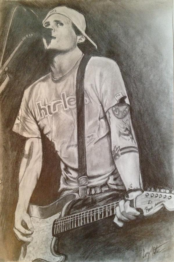 Portrait Drawing - Tom Delonge - Blink 182 by Cory Radtke