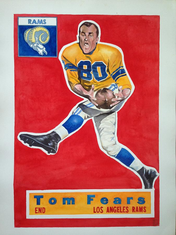 Los Angeles Rams Painting - Tom Fears by Robert Myers
