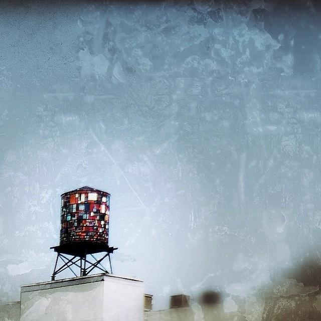 Streetart Photograph - Tom Fruins Watertower by Natasha Marco