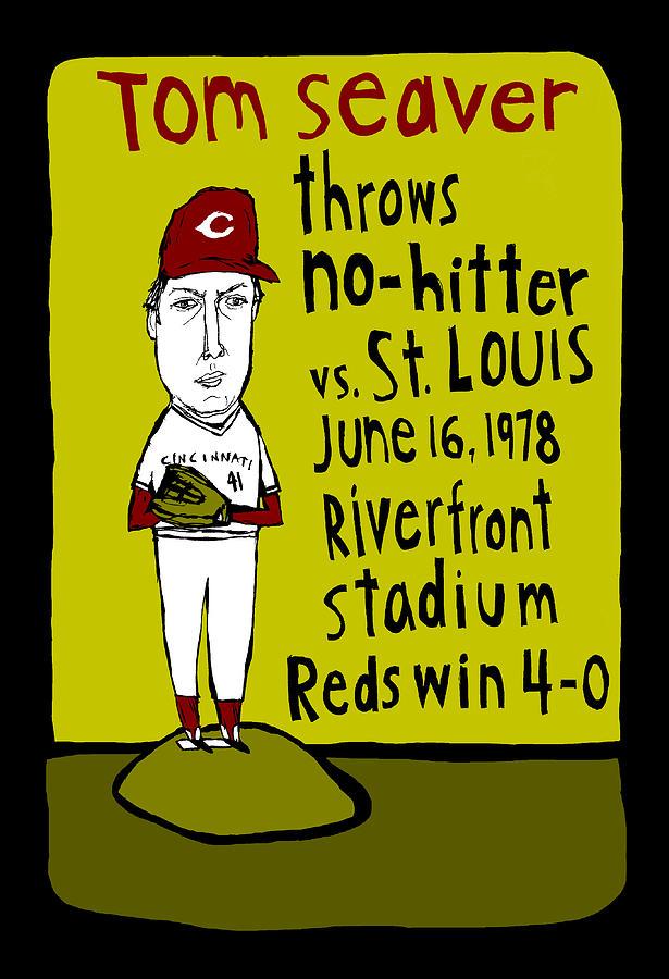 Tom Seaver Painting - Tom Seaver Cincinnati Reds by JB Perkins