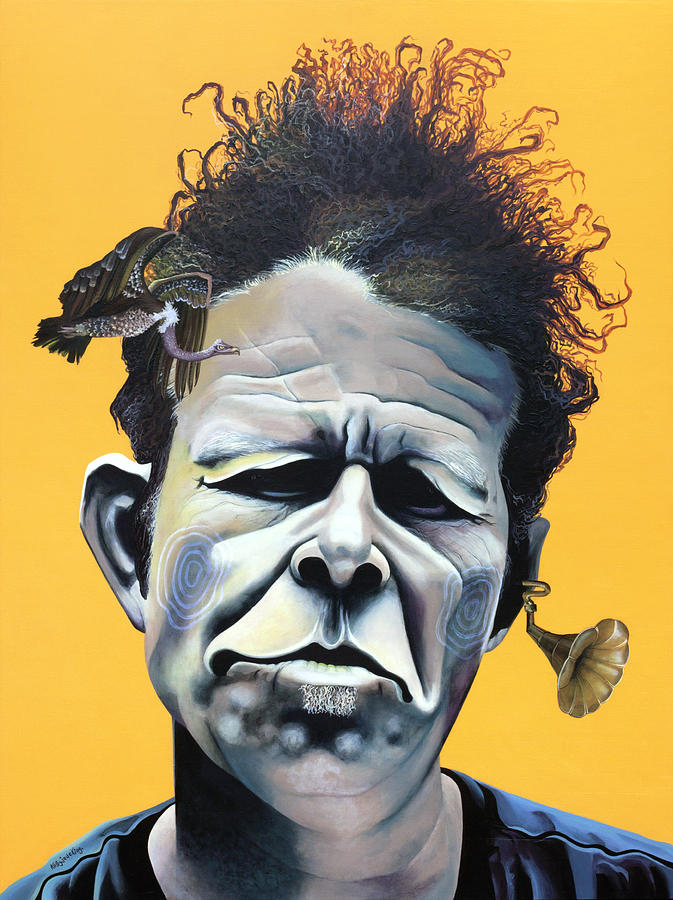 Quirky Painting - Tom Waits - Hes Big In Japan by Kelly Jade King
