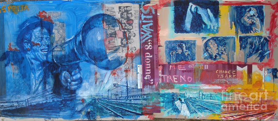 Music Painting - Tom Waits The Train by Massimo Chioccia