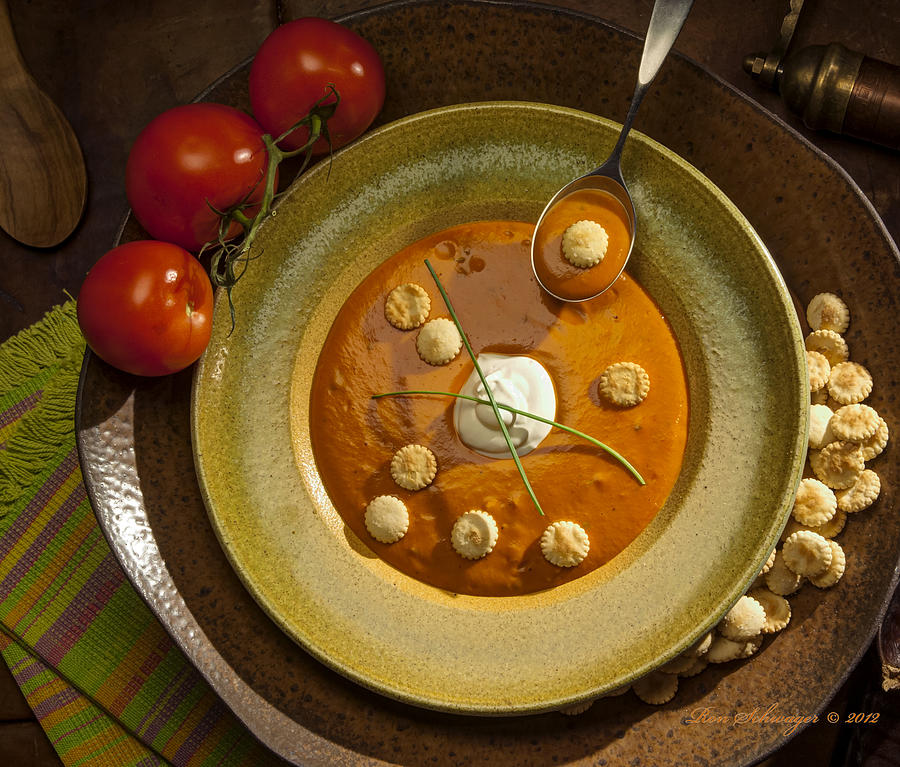 Soup Photograph - Tomato Bisque Soup by Ron Schwager