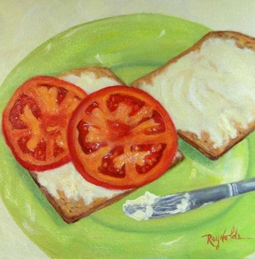 Tomato Sandwich Portrait by Carol Reynolds