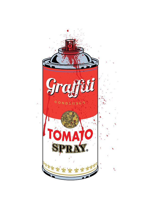 Graphic Digital Art - Tomato Spray Can by Gary Grayson