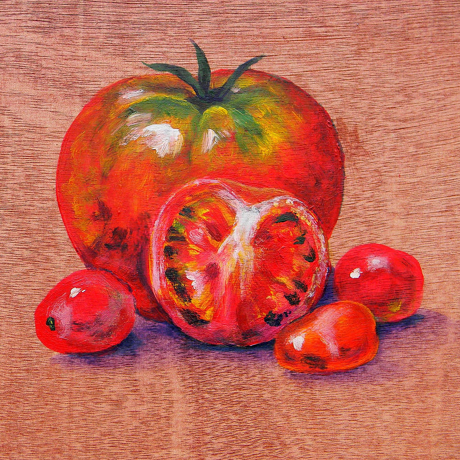 Artwork Painting - Tomatoes by Judy Bruning