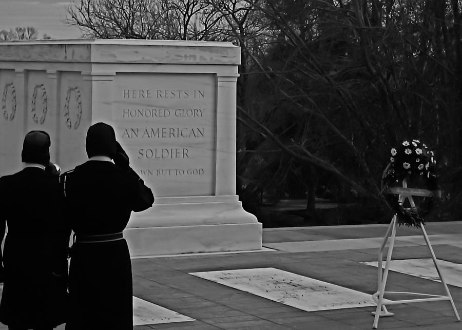 Usa Photograph - Tomb Of The Unknown by DustyFootPhotography