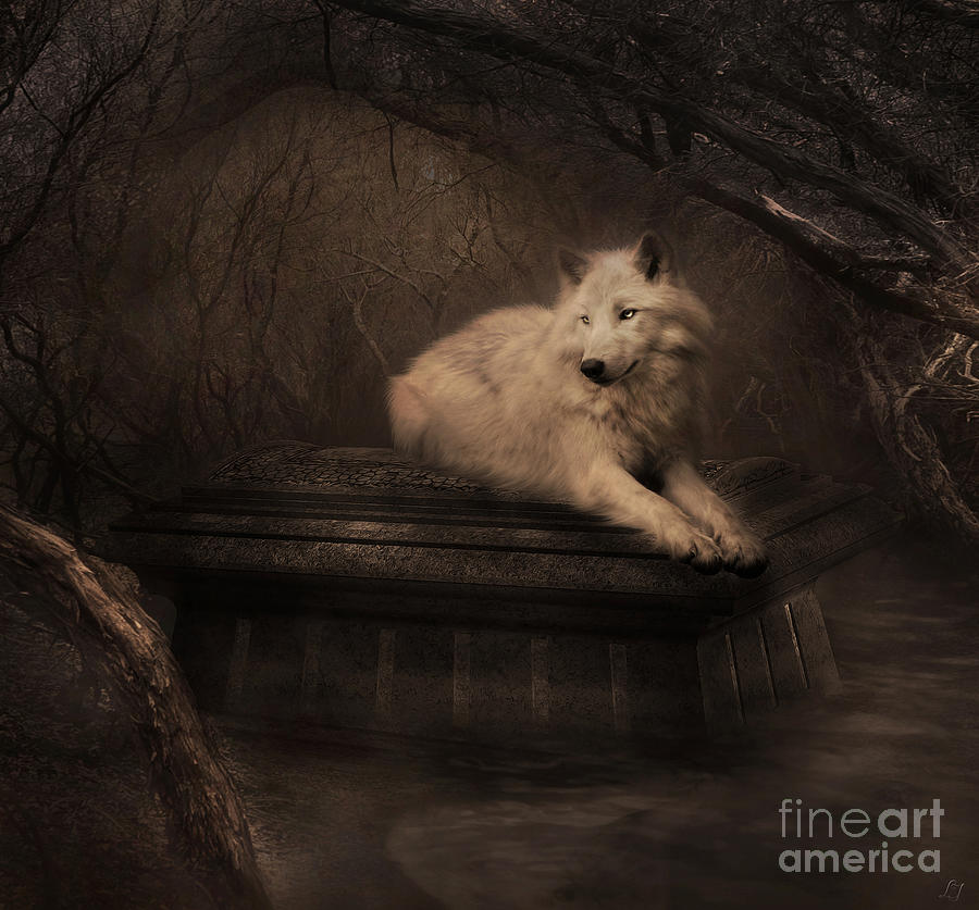 Wolf Digital Art - Tomb Of The Wolf by Lynn Jackson