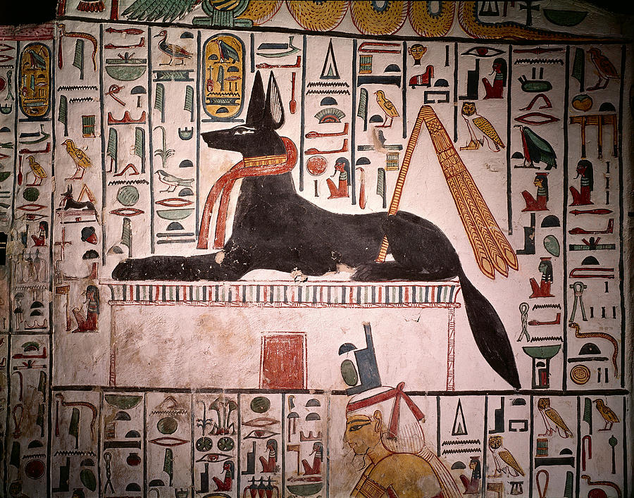 Anubis And Mummy Ancient Egyptian History Art Photo Poster Canvas Pictures