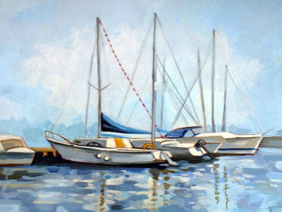 Constanta Painting - Tomis Harbor by Filip Mihail