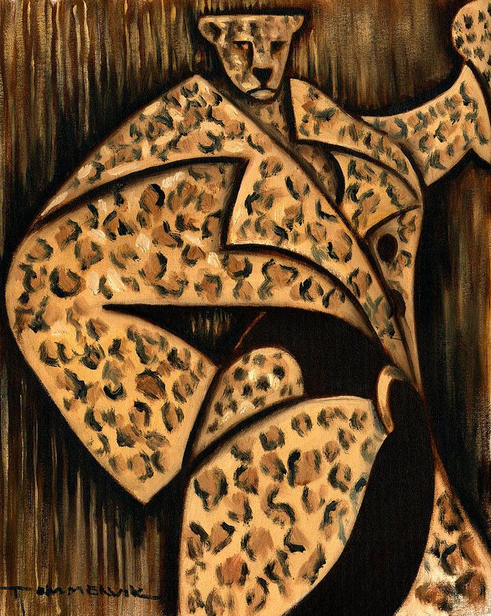 Cheetah Painting -  Cheetah Fur Coat Art Print by Tommervik