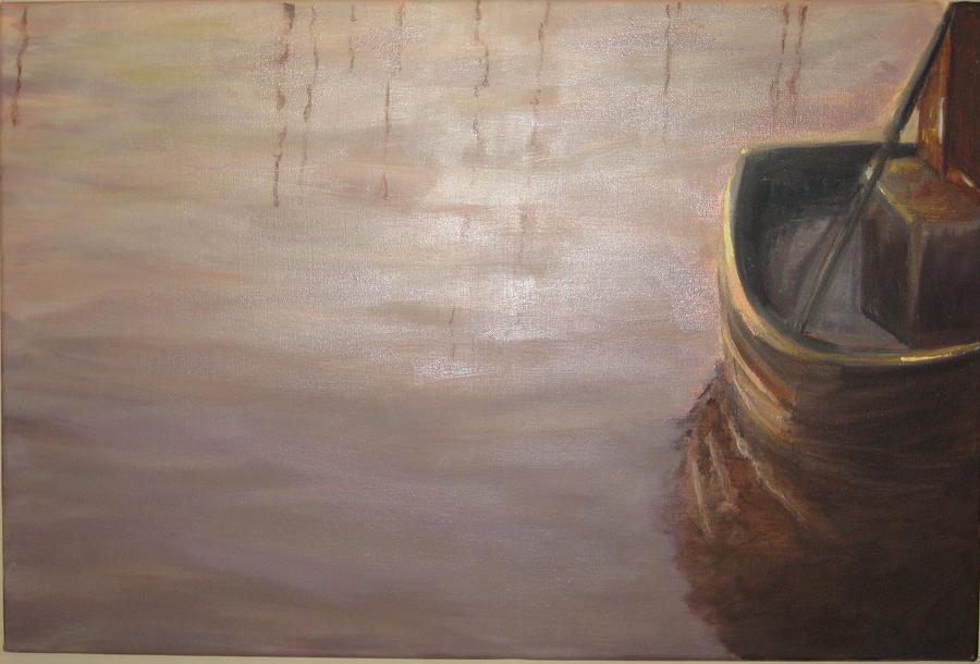 Marine Painting - Tonal Trawler by Brent Moody