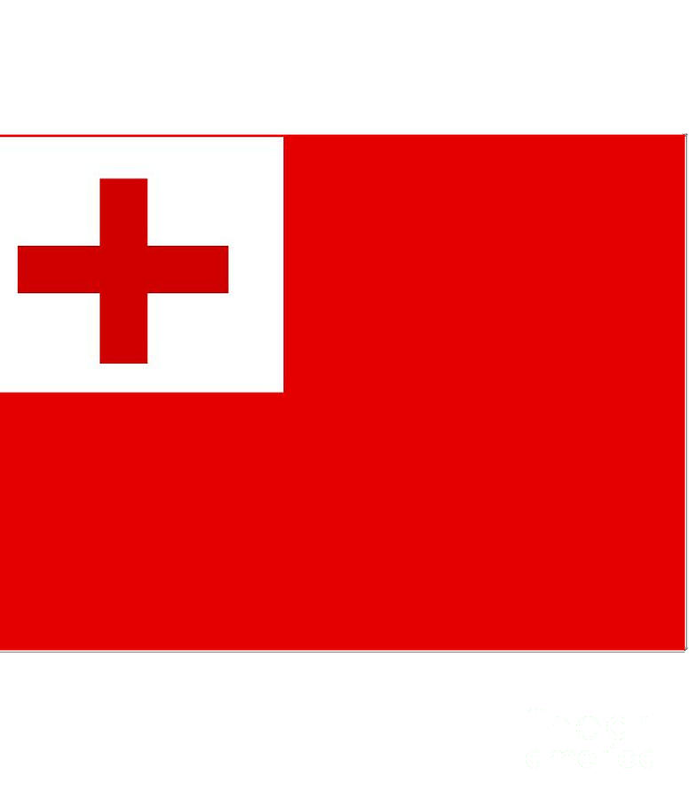 Tonga Digital Art - Tonga Flag by Frederick Holiday
