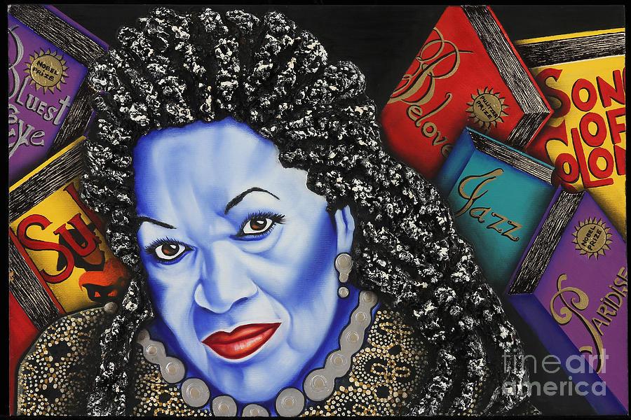 Portrait Painting - Toni Morrison by Nannette Harris