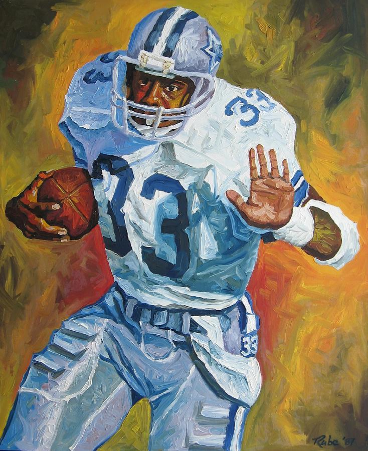 Tony Dorsett Painting - Tony Dorsett - Dallas Cowboys  by Mike Rabe