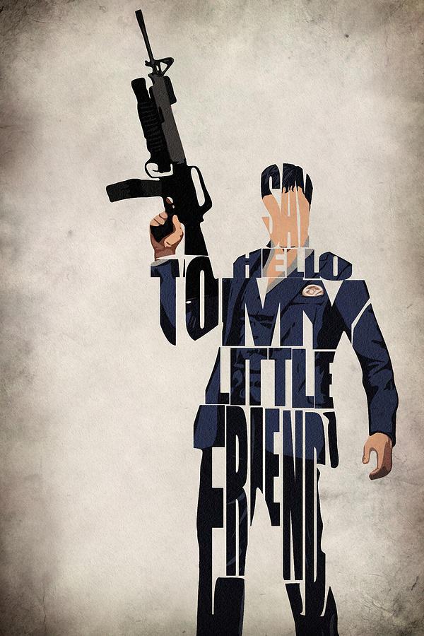 Al Pacino Digital Art - Tony Montana - Al Pacino by Inspirowl Design
