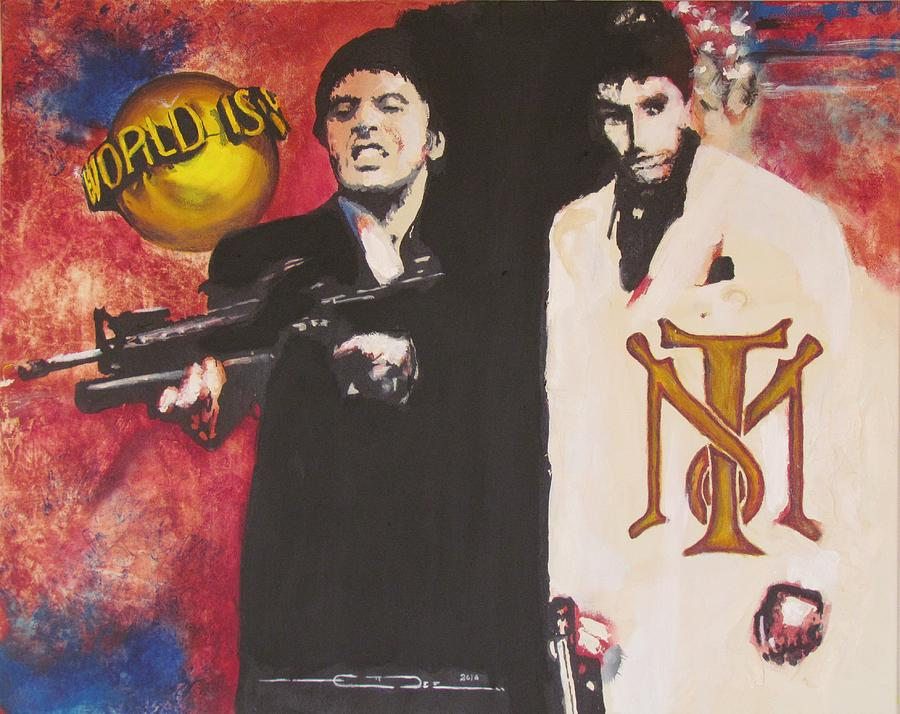 Tony Montana And Friend Painting by Eric Dee