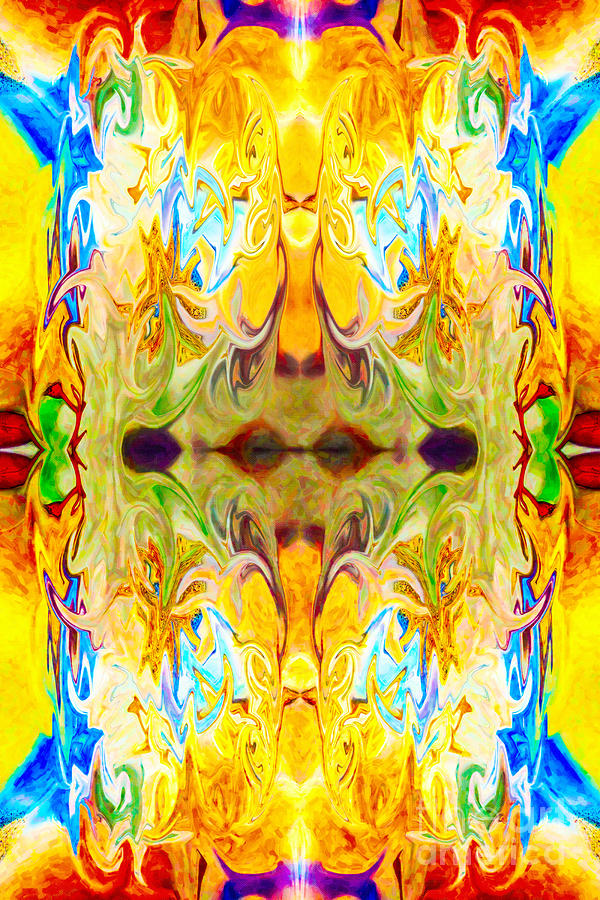 Abstract Painting Digital Art - Tonys Tower Abstract Pattern Artwork By Tony Witkowski by Omaste Witkowski
