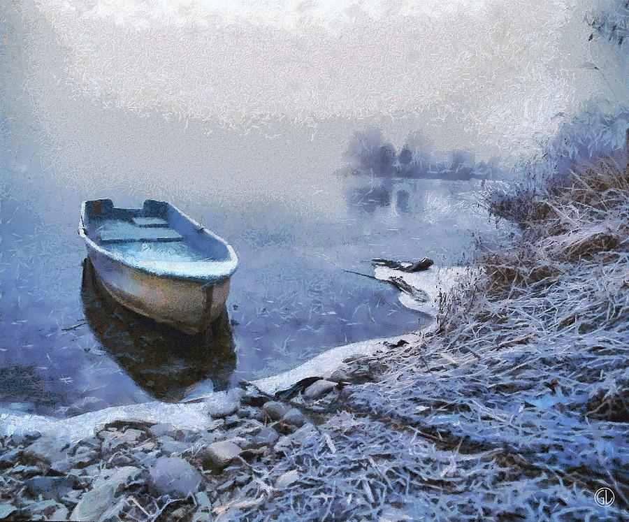 Nature Digital Art - Too Cold For A Boat Trip by Gun Legler