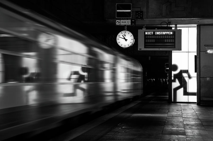 Train Photograph - Too Late by Hilde Ghesquiere