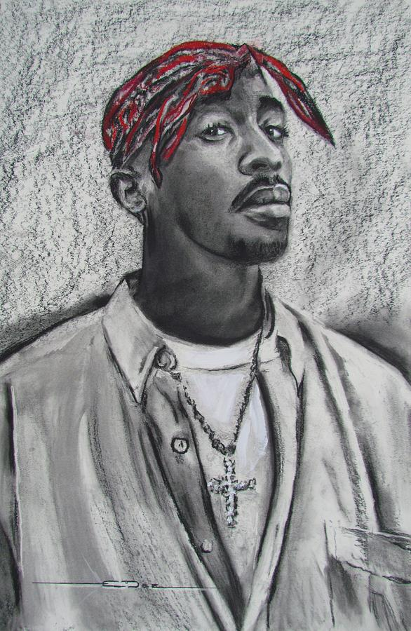 Too Soon Tupac Drawing by Eric Dee