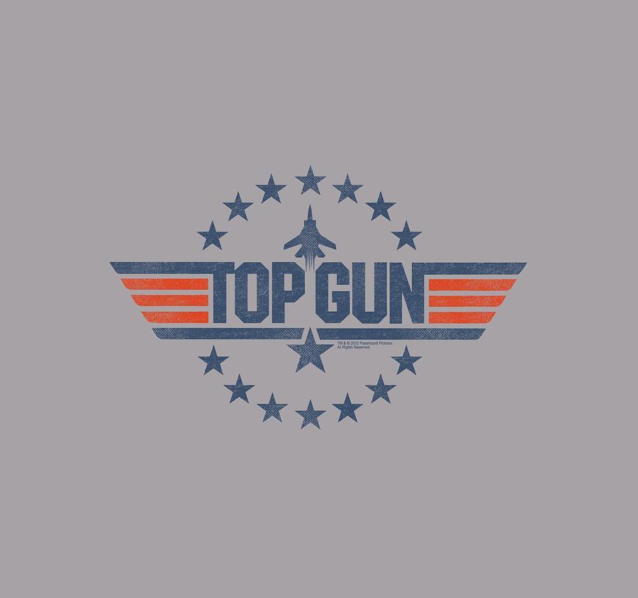 Top Gun Digital Art - Top Gun - Star Logo by Brand A