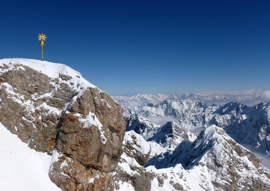 Zugspitze Photograph - Top Of Germany  by The Creative Minds Art and Photography