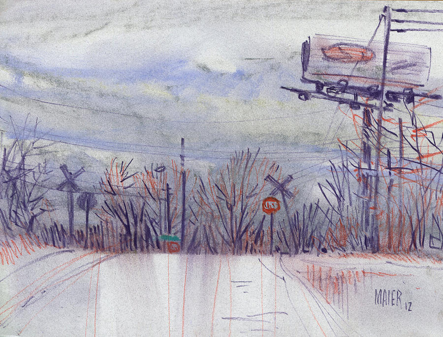 Pastel Drawing - Top Of The Hill by Donald Maier