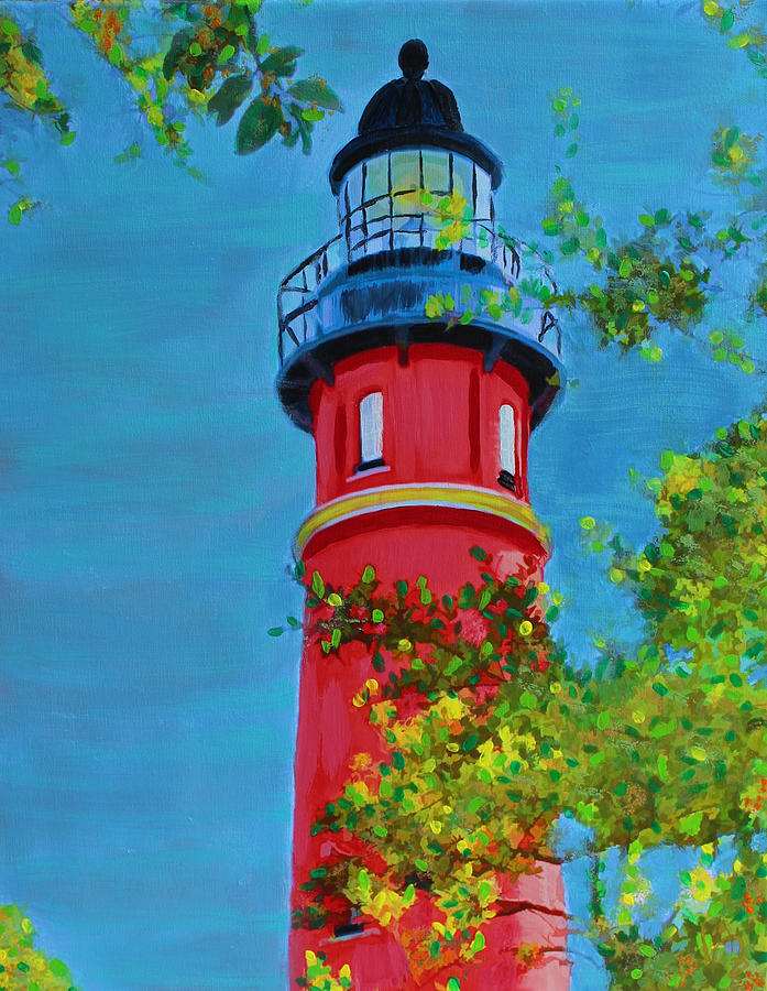 Lighthouse Mixed Media - Top Of The House by Deborah Boyd
