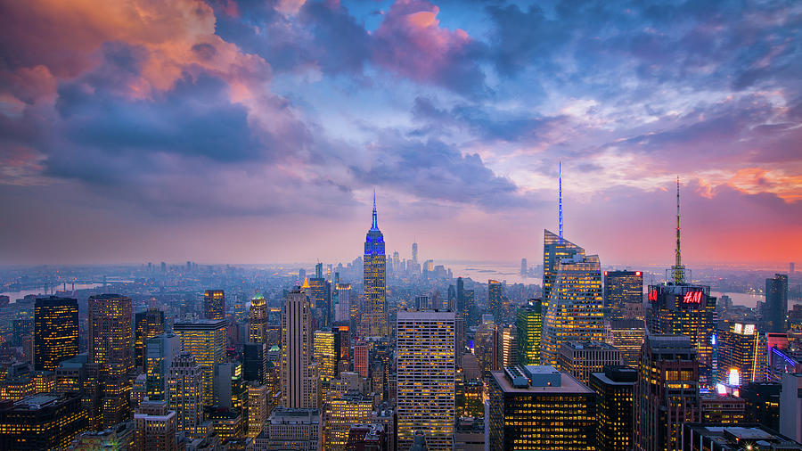 Manhattan Photograph - Top Of The Rock by Michael Zheng