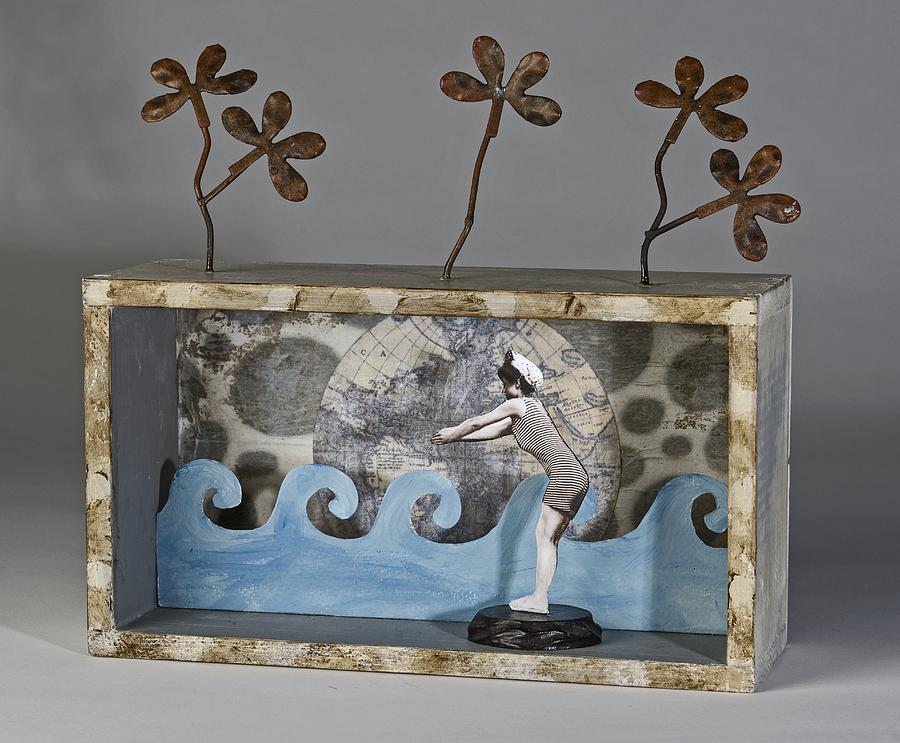 Assemblage Mixed Media - Topic Of Conversation by Susan McCarrell