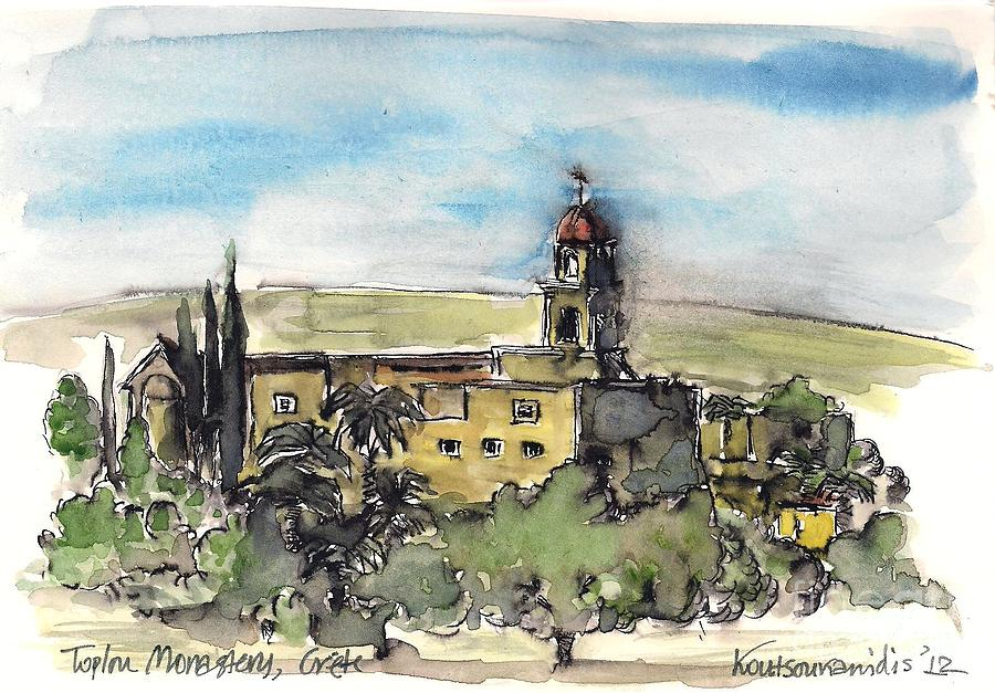 Monastery Painting - Toplou Monastery by Kostas Koutsoukanidis