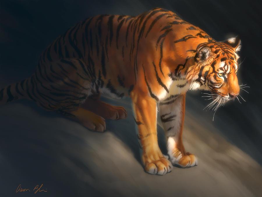 Torch tiger 1 Digital Art by Aaron Blaise