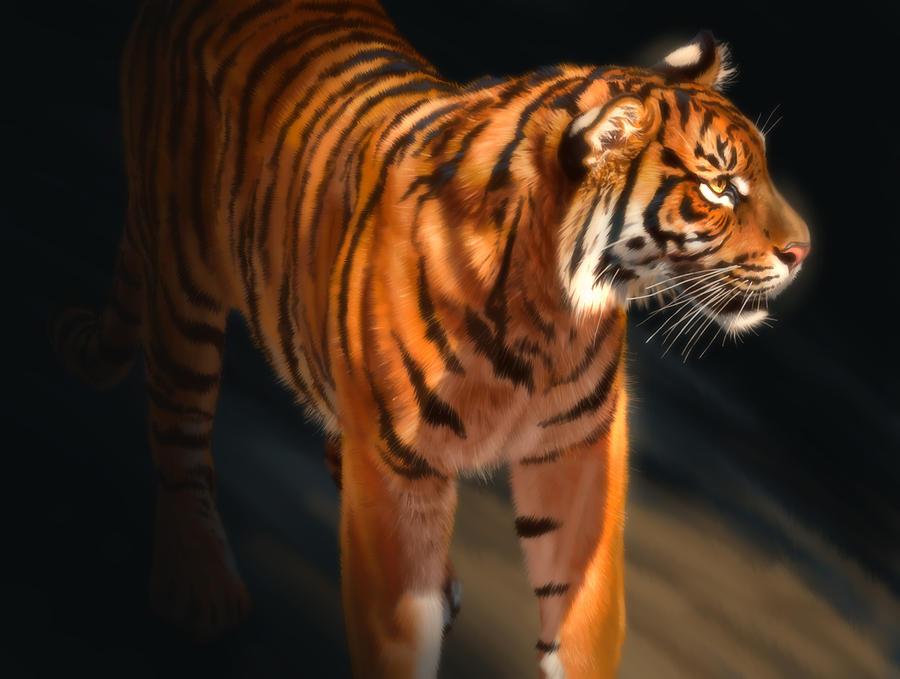 Torch Tiger 4 Digital Art by Aaron Blaise