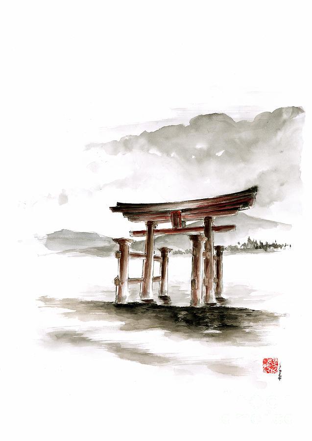 torii gate tattoo - 566×800