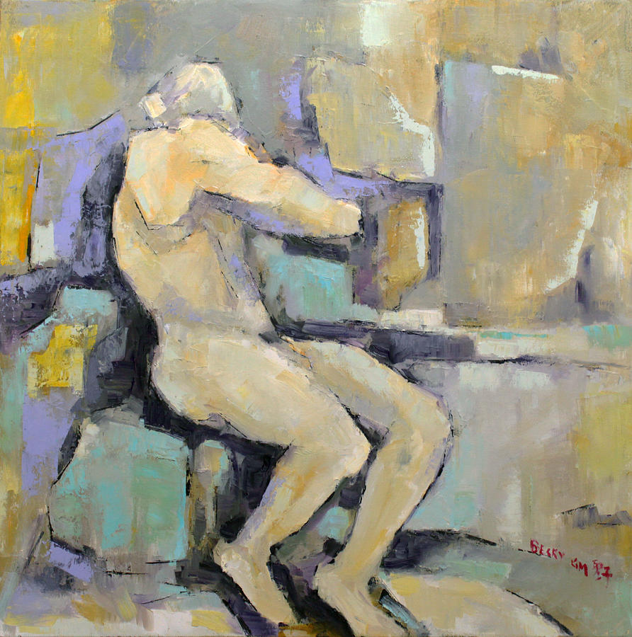 Nude Painting - Torment by Becky Kim