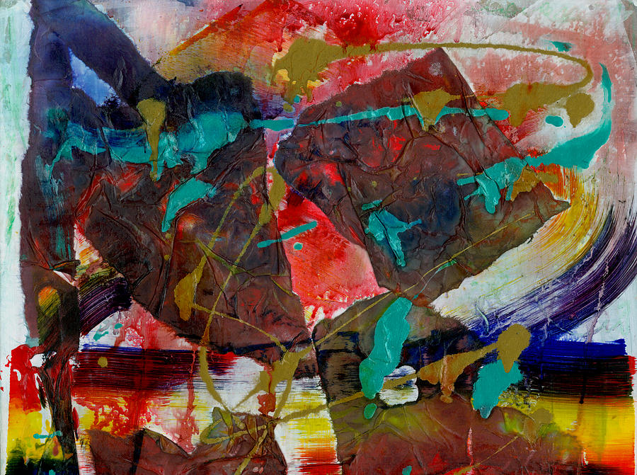 Abstract Drawing - Torn Asunder by Phyllis Anne Taylor Pannet Art Studio